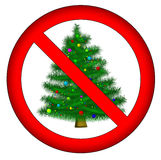 No christmas for you!. Sign: no christmas royalty free illustration