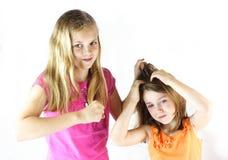 No ciągnie mój włosy! fotografia royalty free