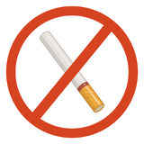 No smoking sign. Do not smoke sign on white background Stock Images