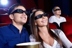 No cinema Imagem de Stock