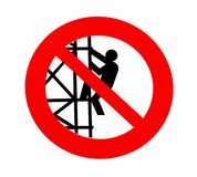No climbing sign Stock Images