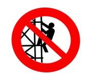 No climbing sign Stock Images
