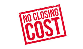 No Closing Cost rubber stamp Stock Photos