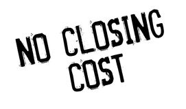 No Closing Cost rubber stamp. Grunge design with dust scratches. Effects can be easily removed for a clean, crisp look. Color is easily changed Stock Photography