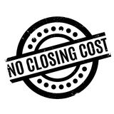 No Closing Cost rubber stamp. Grunge design with dust scratches. Effects can be easily removed for a clean, crisp look. Color is easily changed Stock Photos
