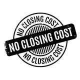 No Closing Cost rubber stamp. Grunge design with dust scratches. Effects can be easily removed for a clean, crisp look. Color is easily changed Royalty Free Stock Photography