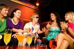No clube nocturno imagens de stock royalty free