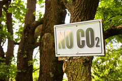 No CO2 sign indicating in the countryside Royalty Free Stock Images