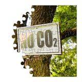 No CO2 sign indicating in the countryside - concept image in puz stock images