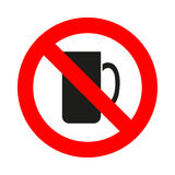 No Coffee Cup icon great for any use. Vector EPS10. Stock Photo