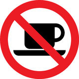 No coffee sign Royalty Free Stock Image