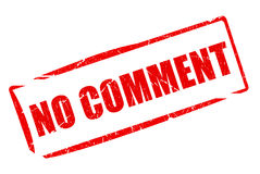 No comment rubber stamp Stock Images