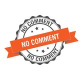 No comment stamp illustration Royalty Free Stock Photo