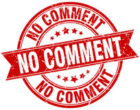 No comment stamp Royalty Free Stock Photos