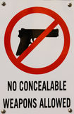 No Concealable Weapons Allowed. Stock Image