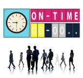 No conceito pontual da gestão da organização da eficiência do tempo imagem de stock