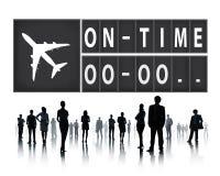 No conceito pontual da gestão da organização da eficiência do tempo imagens de stock