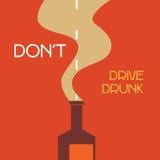 No conduzca bebido stock de ilustración