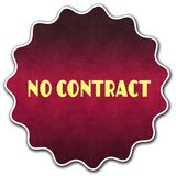 NO CONTRACT round badge Royalty Free Stock Image