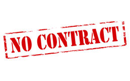 No contract. Rubber stamp with text no contract inside,  illustration Royalty Free Stock Photography