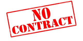 No contract. Rubber stamp with text no contract inside,  illustration Stock Photos