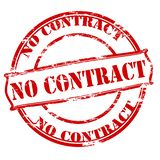 No contract. Rubber stamp with text no contract inside,  illustration Stock Image