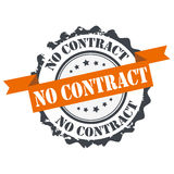 No contract  stamp Stock Photos