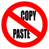 No copy paste sign Stock Photo