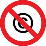 No copyright sign Royalty Free Stock Image
