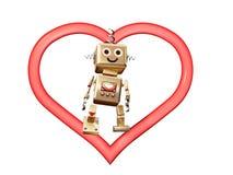 No coração, ouro de Robi que está no coração Imagens de Stock