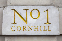 No1 Cornhill in London Royalty Free Stock Photography