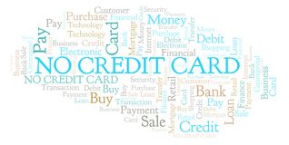 No Credit Card word cloud. Wordcloud made with text only vector illustration