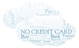 No Credit Card word cloud. Wordcloud made with text only royalty free illustration