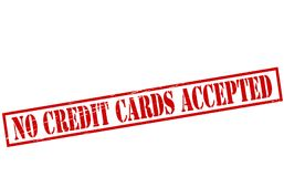 No credit cards accepted. Rubber stamps with text no credit cards accepted inside,  illustration Royalty Free Stock Photos