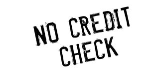 No Credit Check rubber stamp Stock Images