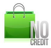 No credit shopping card Royalty Free Stock Photography