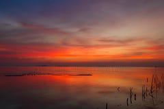 No crepúsculo em Bangpoo, Tailândia Foto de Stock