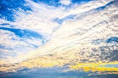 No crepúsculo, o céu apareceu Fotografia de Stock Royalty Free