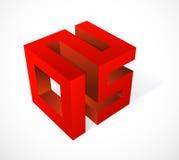 2015 no cubo Imagens de Stock