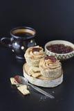 NO--cuocia i muffin del vegano Fotografie Stock