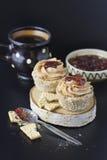 NO--cuocia il muffin del vegano Fotografie Stock