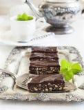 NO--cuocia la fetta del cioccolato immagine stock libera da diritti