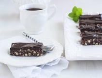NO--cuocia la fetta del cioccolato fotografia stock