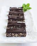 NO--cuocia la fetta del cioccolato fotografie stock