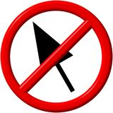 No cursor Royalty Free Stock Photography