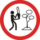 No cutting tree traffic sign Stock Image