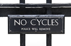 No Cycles Royalty Free Stock Images