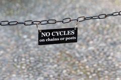 No Cycles Banner Stock Photos