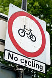 No cycling Royalty Free Stock Images