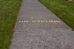 No Cycling Stock Photo